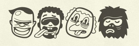 4 freaky faces from the typeface.