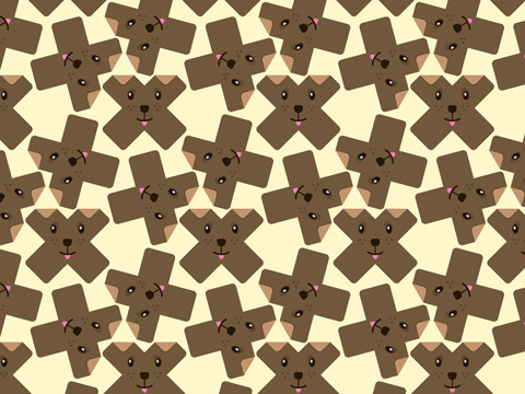 ...and then I made a pattern out of that cross-shaped dog!